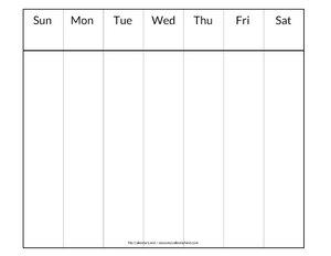 printable blank weekly calendar c