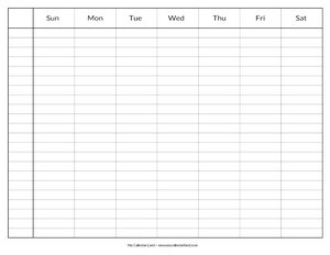 calendar with times
